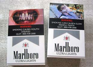 warnings of cigarette packets graphic essay Heart disease on cigarette packets are used to encourage us  graphic imagery to illustrate the effects of smoking,  the role of fear in hiv prevention 3.