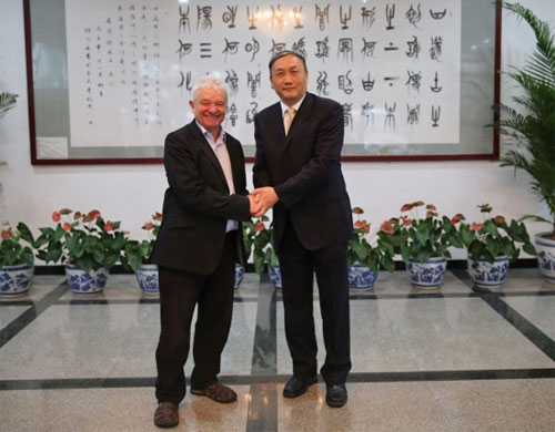 Royal Society President Sir Paul Nurse Visits Chinese Academy Of Sciences