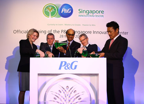 Procter and Gamble open the largest private research facility in Singapore
